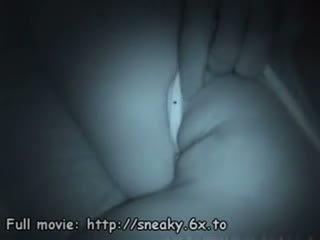 Voyeur films sleeping babe