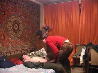 רוסי בוגר אנמא ו - שלה נער! חובבן!