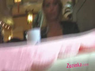 Real Exhibitionist Inside Chinese Restaurant Movie