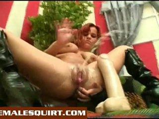 Sexy küken heiß solo squirting masturbations