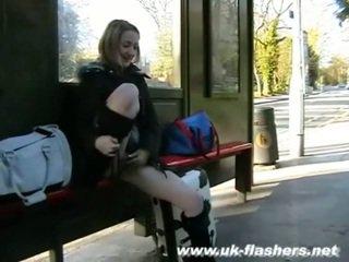 Sexy milf flashing and amateur babe Aylas public