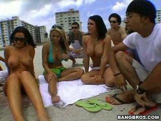 group sex film, hq beach scene, check beautiful tits