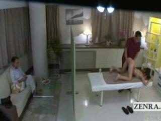 Subtitled japonské školáčka idol hopeful riť masáž