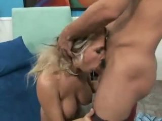 Busty Blonde Maddi Sinn Can Not Live Out Of Getting Her Muff And Mouth Filled With Penis