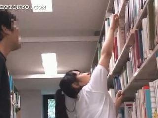 Cute asian teen girl teased in the school