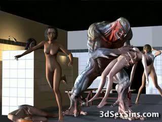 Aliens bang 3d gadis!