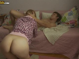 Young blonde babe pounded by her boyfriend
