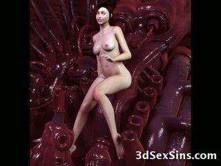 Monsters 精液 上の 3d 女の子! ビデオ