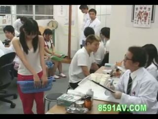 japonisht, nxënëse, examination