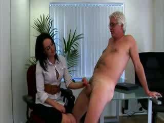ホット 服を着た女性裸の男性 オフィス 女の子