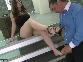 Paige Turnah footjob and fucking