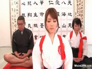 Süß japanisch karate mieze hart rangenommen part6