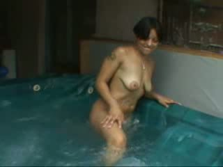 Nice butt latina solo in a pool