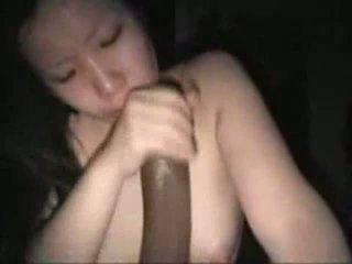Asian girl suck a massive, black cock Video