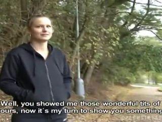Чешки момиче was picked нагоре за публичен секс