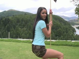 Flawless corps sur la golf cours.