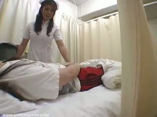 Lady perawat duties ward bayan