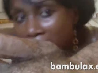 Ebony african teen nice blowjob cum in mouth