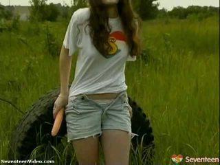 teens, masturbuje, vagína, 18 let