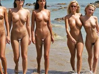 Nuogas paplūdimys mada šou 2