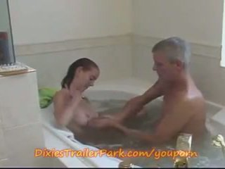 Babe Teen Step-Daughter FUCKED in the TUB