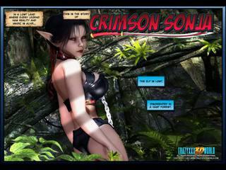 3D Comic Crimson Sonja