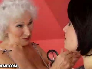 Sexy Young Tess Visits The Mature Norma At Home To Help Her...