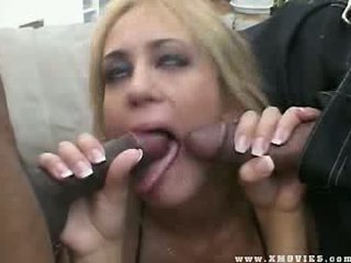 Penis hungry whore gets all her tight holes double filled with Dicks