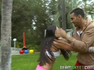 Asian babe adrianna luna works out and gets nailed