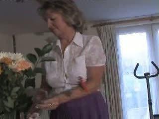 Adorable Houswife Granny Video