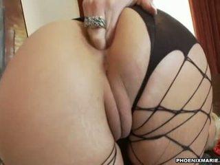 Hawt Giant Assed Hawttie Phoenix Marie Plugs Her Beloved Toy In Her Moist Hole