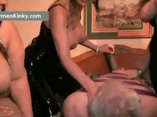 Kusut carmen and two huge babes get