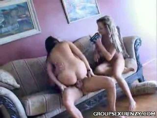 Sophia sharing a jock