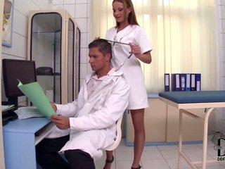 Big Titted Nurse Plays Doctor And Patient Too