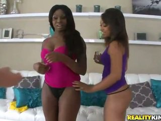 Ebony Leilani Leeane and Tatiyana Foxx get a dick