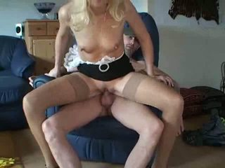 Maid Milf in Stockings Gets A Good Load Video