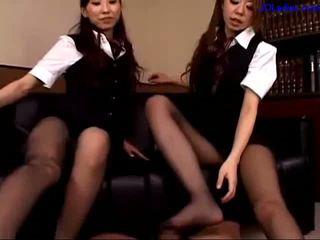 office, pantyhose, asian