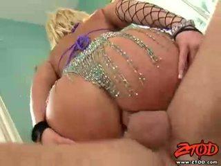 Breasty tóc vàng georgia peach gets asspounded và gets một lộn xộn kiêmshot
