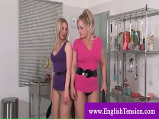 Mistresses punishing a weak sissy
