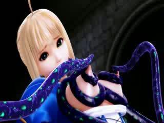 3d cartoni alieno tentacoli