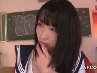 Delicate 亞洲人 學校 娃娃 性交 由 她的 老師