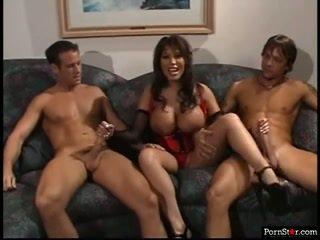 veľký veľké prsia najlepšie, pekný trojka, online pornohviezdami zábava