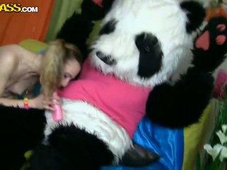 Flat Chested Shaved Teen Maribel Has Xxx Nearby Panda