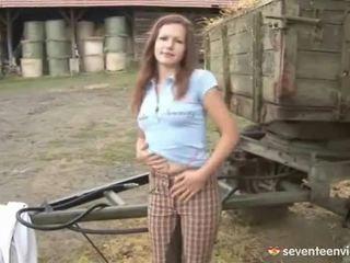 Masturbating Inside The Barn Yard