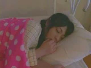 geneukt, meisje, hard, slapen