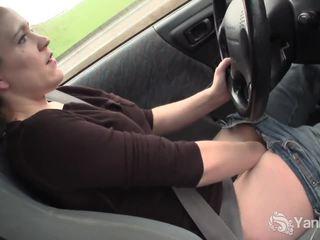 brunette, masturber, masturber