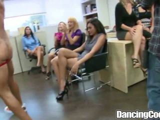 Group Office Blowing Orgy that gets crazy
