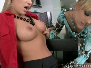Blue Angel And Britney Spring Cunt Tongue Drill