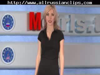 Russian Moskow Babe Tv Natasha Volkova russian semen shots swallow