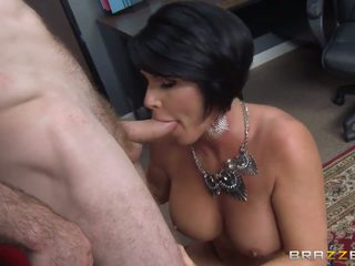 In the office with dangerously hot MILF.